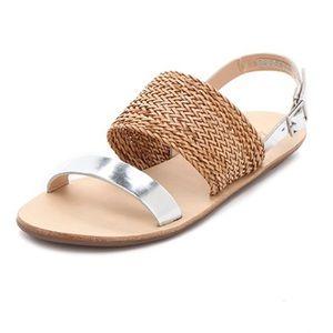 Loeffler Randall Drew Woven Flat Sandals
